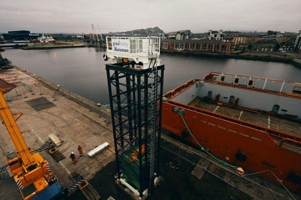 Edinburgh's gravity energy storage demonstrator takes shape